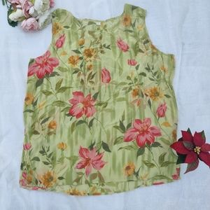 Floral Green Top